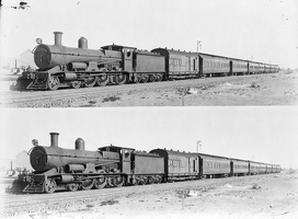 Publicity photograph of the Trans-Australian Express at Port Augusta, circa 1917