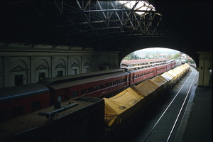14<sup>th</sup> October 1985 Ballarat- Inside station - wooden sleeping cars