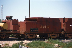 3<sup>rd</sup> February 1986,Port Augusta - Poison train wagons ex L class tenders
