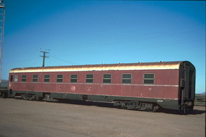 Second class sleeping car BRB 87 at Port Augusta on 6.4.1987
