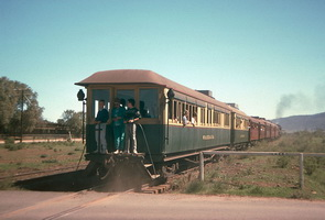 25<sup>th</sup> March 1989,Pichi Richi Railway Quorn <em>Wandana</em> car on rear of train