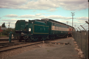 8.1989 Dry Creek loco 621 tender and <em>Finniss</em>
