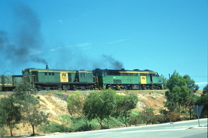 3<sup>rd</sup> November 1990,Port Adelaide locos 936 + 874 on oil train