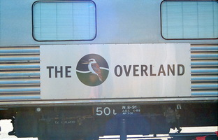 Overland logo on side of Tawarri 9.2.1999