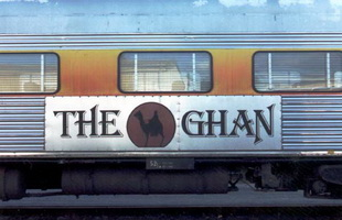 Ghan logo on car side