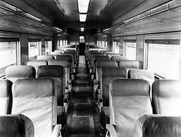 Second class sitting car interior as originally built