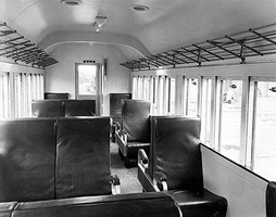 Interior of narrow gauge car remodelled for the Peterborough Division