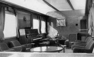 AFB lounge car interior, 1963.