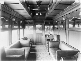Publicity photo of AF class lounge car taken 1917