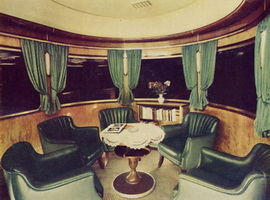 ARF class sleeper/lounge car interior, circa 1952