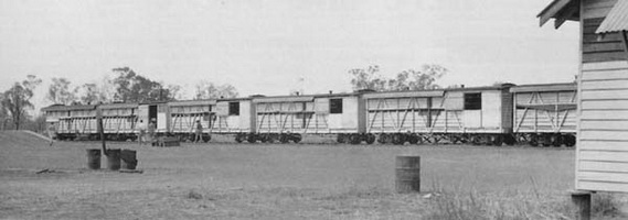 "28.09.1943 - ""NOA"" class cars on the Hospital Train at Katherine"