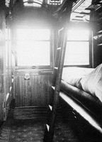 circa 1917 Interior of Joint Stock Sleeping car