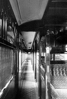 circa 1911 Sleeping Car Onkaparinga from the smoking saloon looking down corridor as built