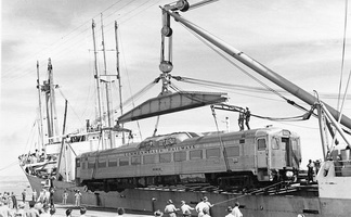 CB 1 being unload 1951