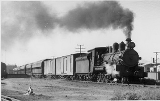 NM37 on Ghan at Port Augusta 13.3.1952