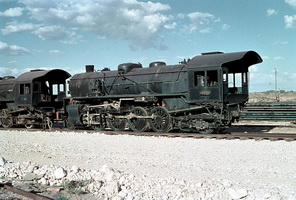7.1.1966,Port Augusta - Commonwealth Railways L class 2-8-2 stored