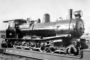 Islington - loco T199 on wellwagon after conversion from Tx