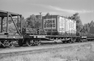 "28.8.1976 - Alice Springs  - NRN1615 with ""John Dring"" containers Nos.22 and 208"