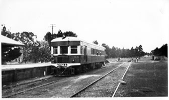 railcar SAR Brill No. 58 in platform,Mount Pleasant