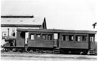 1906 railcar SAR Kitson Steam Motor No. 2 - Naracoorte - Potter Collection