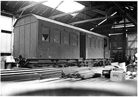 1952 railcar CR NJAB1 Coffee Pot - Carpenters Shop - Quorn - Bruce McDonald - Murray Billett Collection