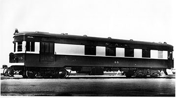 c.1938, railcar SAR brill No. 55 after conversion to Milk Bar interior