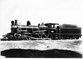 11.10.1934 - loco SAR T203 as liveried for Royal Train