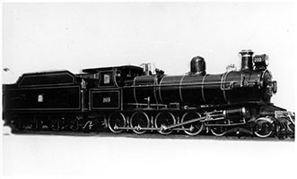 1934 - loco SAR T203 with Royal livery on side